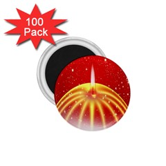 Advent Candle Star Christmas 1 75  Magnets (100 Pack)