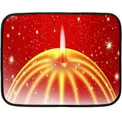 Advent Candle Star Christmas Double Sided Fleece Blanket (mini)  by Nexatart