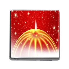 Advent Candle Star Christmas Memory Card Reader (square)