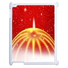 Advent Candle Star Christmas Apple Ipad 2 Case (white)