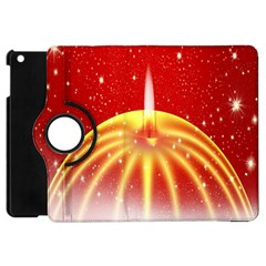 Advent Candle Star Christmas Apple Ipad Mini Flip 360 Case by Nexatart