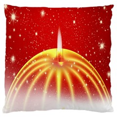 Advent Candle Star Christmas Large Flano Cushion Case (one Side)