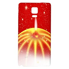 Advent Candle Star Christmas Galaxy Note 4 Back Case