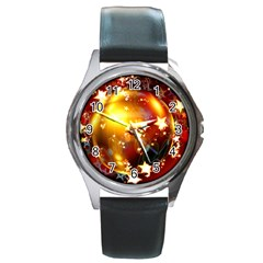 Advent Star Christmas Round Metal Watch