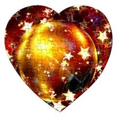 Advent Star Christmas Jigsaw Puzzle (Heart) by Nexatart