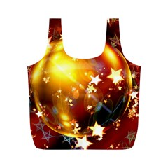 Advent Star Christmas Full Print Recycle Bags (m)