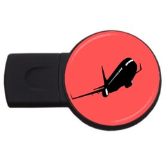 Air Plane Boeing Red Black Fly Usb Flash Drive Round (2 Gb) by Alisyart