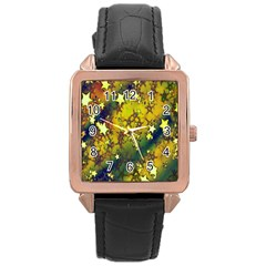 Advent Star Christmas Rose Gold Leather Watch
