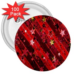 Advent Star Christmas Poinsettia 3  Buttons (100 Pack)  by Nexatart