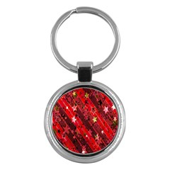 Advent Star Christmas Poinsettia Key Chains (round)