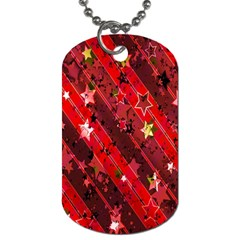 Advent Star Christmas Poinsettia Dog Tag (one Side) by Nexatart