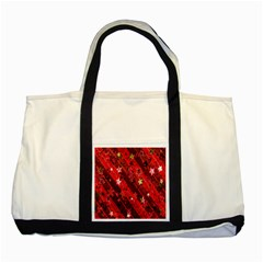 Advent Star Christmas Poinsettia Two Tone Tote Bag