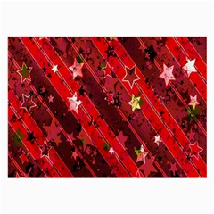 Advent Star Christmas Poinsettia Large Glasses Cloth (2 Side) by Nexatart
