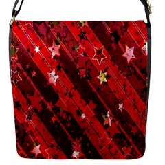 Advent Star Christmas Poinsettia Flap Messenger Bag (s) by Nexatart