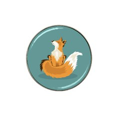 Animal Wolf Orange Fox Hat Clip Ball Marker (4 Pack) by Alisyart