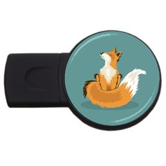 Animal Wolf Orange Fox Usb Flash Drive Round (4 Gb) by Alisyart