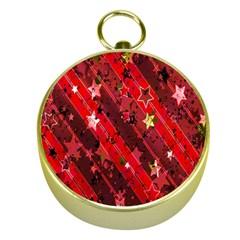Advent Star Christmas Poinsettia Gold Compasses by Nexatart