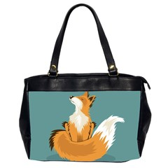 Animal Wolf Orange Fox Office Handbags (2 Sides)  by Alisyart