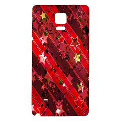 Advent Star Christmas Poinsettia Galaxy Note 4 Back Case by Nexatart