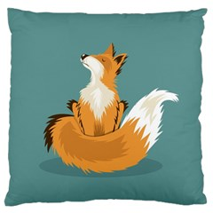 Animal Wolf Orange Fox Standard Flano Cushion Case (one Side) by Alisyart