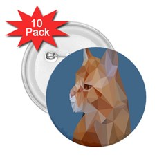 Animals Face Cat 2 25  Buttons (10 Pack)