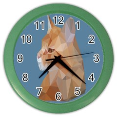 Animals Face Cat Color Wall Clocks by Alisyart
