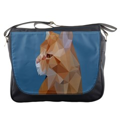 Animals Face Cat Messenger Bags by Alisyart