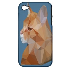 Animals Face Cat Apple Iphone 4/4s Hardshell Case (pc+silicone) by Alisyart