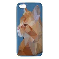 Animals Face Cat Apple Iphone 5 Premium Hardshell Case by Alisyart