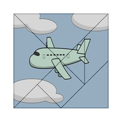 Airplane Fly Cloud Blue Sky Plane Jpeg Acrylic Tangram Puzzle (6  X 6 ) by Alisyart