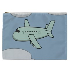 Airplane Fly Cloud Blue Sky Plane Jpeg Cosmetic Bag (xxl)