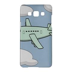 Airplane Fly Cloud Blue Sky Plane Jpeg Samsung Galaxy A5 Hardshell Case  by Alisyart