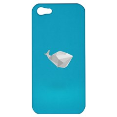 Animals Whale Blue Origami Water Sea Beach Apple Iphone 5 Hardshell Case