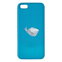 Animals Whale Blue Origami Water Sea Beach Iphone 5s/ Se Premium Hardshell Case