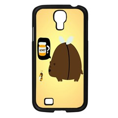 Bear Meet Bee Honey Animals Yellow Brown Samsung Galaxy S4 I9500/ I9505 Case (black)