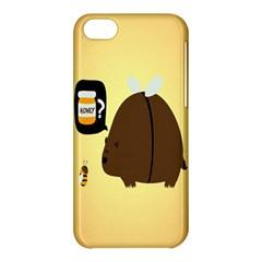 Bear Meet Bee Honey Animals Yellow Brown Apple Iphone 5c Hardshell Case