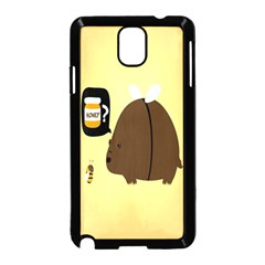 Bear Meet Bee Honey Animals Yellow Brown Samsung Galaxy Note 3 Neo Hardshell Case (black)