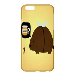 Bear Meet Bee Honey Animals Yellow Brown Apple Iphone 6 Plus/6s Plus Hardshell Case