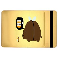 Bear Meet Bee Honey Animals Yellow Brown Ipad Air 2 Flip