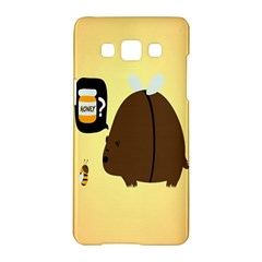 Bear Meet Bee Honey Animals Yellow Brown Samsung Galaxy A5 Hardshell Case