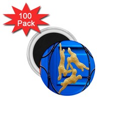 Animal Hare Window Gold 1 75  Magnets (100 Pack)