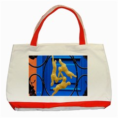Animal Hare Window Gold Classic Tote Bag (red) by Nexatart