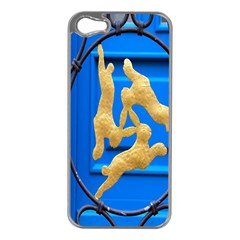 Animal Hare Window Gold Apple Iphone 5 Case (silver)