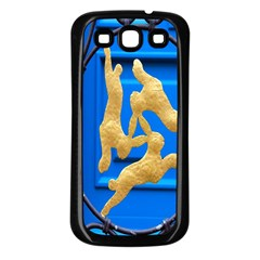 Animal Hare Window Gold Samsung Galaxy S3 Back Case (black)