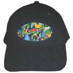 Animated Safari Animals Background Black Cap