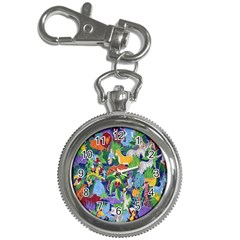 Animated Safari Animals Background Key Chain Watches