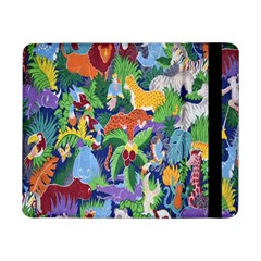 Animated Safari Animals Background Samsung Galaxy Tab Pro 8 4  Flip Case by Nexatart