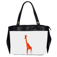 Animal Giraffe Orange Office Handbags (2 Sides)  by Alisyart