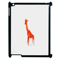 Animal Giraffe Orange Apple Ipad 2 Case (black) by Alisyart