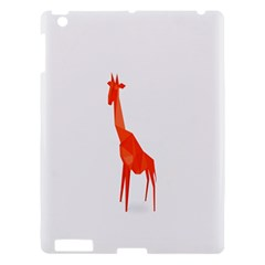 Animal Giraffe Orange Apple Ipad 3/4 Hardshell Case by Alisyart